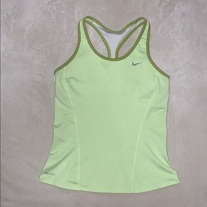 Nike Dri-Fit fitted tank with built in bra